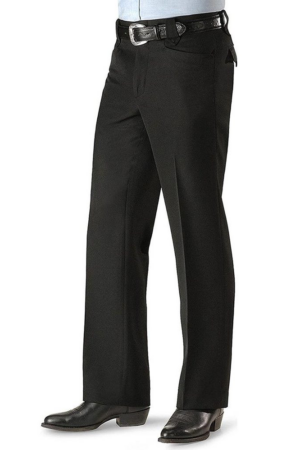 Circle S Sidran Men's Black Solid Dress Pants