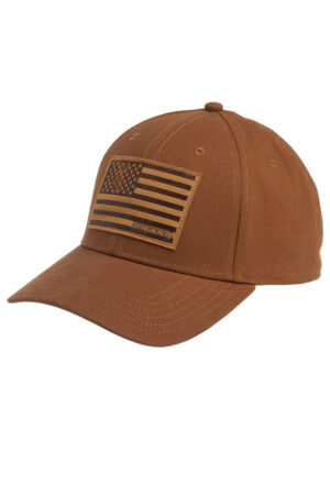 Browning Brown American Flag Patch Cap