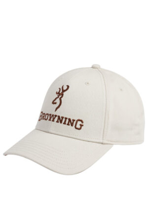 Browning Deluxe Off White Cap