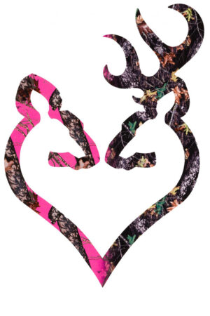 Browning Buck Mark His & Her Heart 6″ Camo Decal