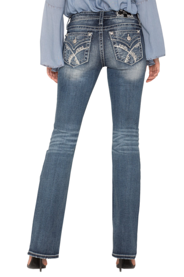 Miss Me Crossing Paths Bootcut Jeans