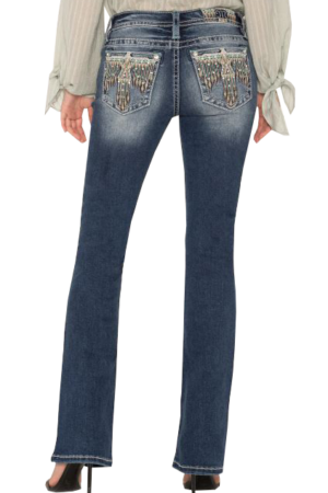 Miss Me Head of the Tribe Bootcut Jeans