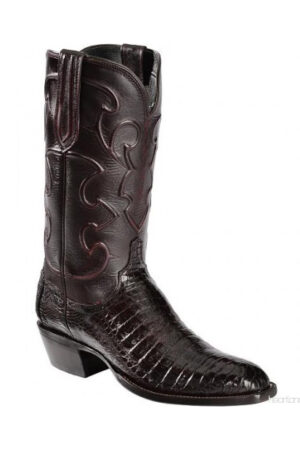 Lucchese Charles Black Cherry Boots