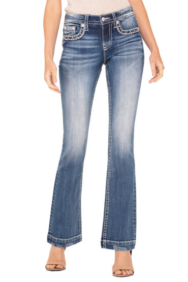 Miss Me Feel For You Bootcut Jeans