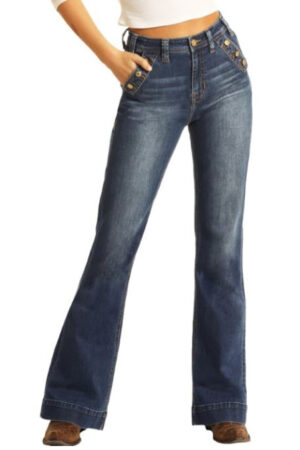 Panhandle Rock & Roll Denim High Rise Extra Stretch Trouser Jeans